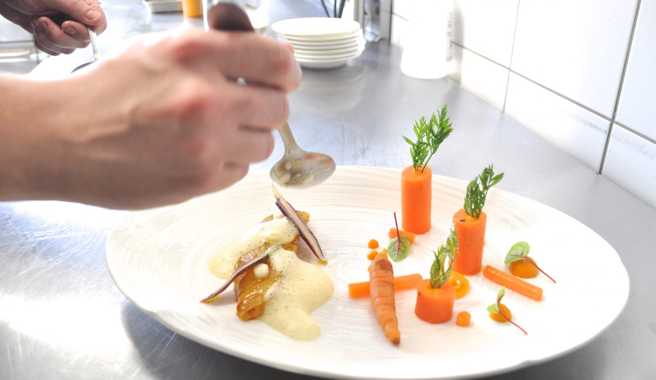 poisson carotte et émulsion de citron