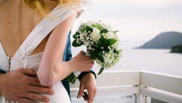 bouquer de mariée avec vue mer au Grand Hôtel des Sablettes