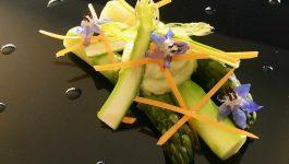 Plat gastronomique asperge restaurant Horizon La Seyne sur Mer