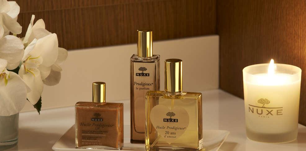 Produits de spa huiles de massage Nuxe