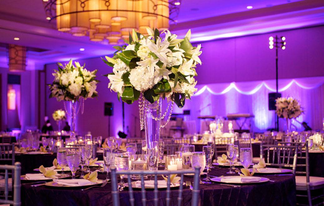 table mariage dans un hotel hilton à toulon